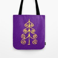 christmas tree Tote Bags featuring Christmas Tree* by Mr & Mrs Quirynen