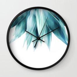 Agave geo fringe - teal Wall Clock