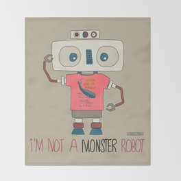 I'm not a monster robot! Throw Blanket