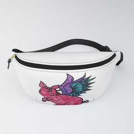 Pig with Wings Dreams Fanny Pack