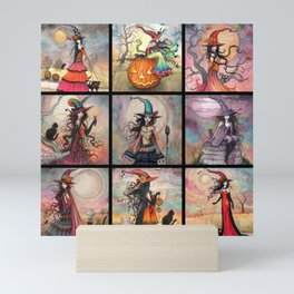 Halloween Witches by Molly Harrison Fantasy Art Mini Art Print