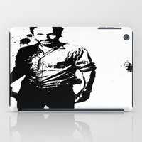 rick grimes iPad Cases featuring Rick Grimes by Black And White Store