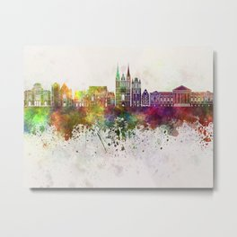 Angers skyline in watercolor background Metal Print