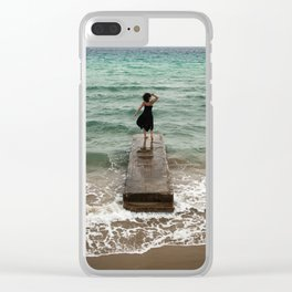 The Woman And The Sea Clear iPhone Case