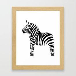 Dala Zebra Framed Art Print