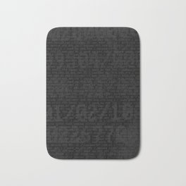 Digital Black Bath Mat