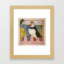 Innu Munaikutan ( Arctic Puffin ) Framed Art Print