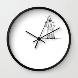 God of Fortune Wall Clock