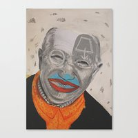 dad Canvas Prints featuring dad by ferzan aktas