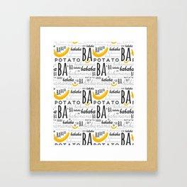 Minion - banana Framed Art Print