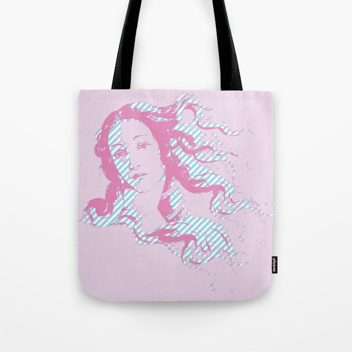 Rebirth of Venus - Pink & Cyan - Trans Pride! Tote Bag