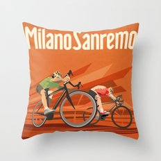 Milan San Remo cycling classic Throw Pillow