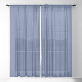 Indigo Evening ~ Soft Denim Sheer Curtain