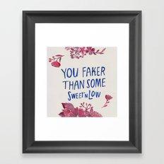 Floral Rap #3 Framed Art Print