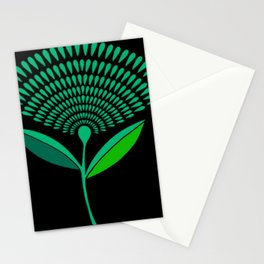 Mid Century Modern Dandelion Seed Head In Carnival Glass Stationery Cards