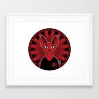 sphynx Framed Art Prints featuring Sphynx! by Visually Odd