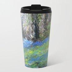 Bluebells English Woodland Landscape Acrylics On Canvas Metal Travel Mug