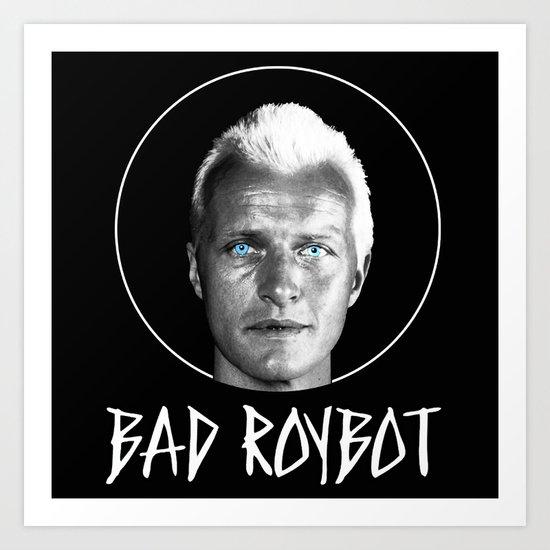 Bad Robot (White Lettering) Art Print