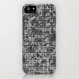 Pixelized Abstract Pattern / GRAY iPhone Case
