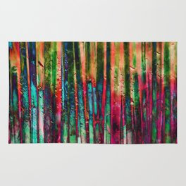 Colored Bamboo Rug