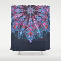 stickers Shower Curtains featuring Escapism  by micklyn
