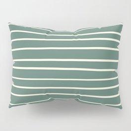 Dover White 33-6 Hand Drawn Horizontal Lines on Thistle Green 22-18 Pillow Sham