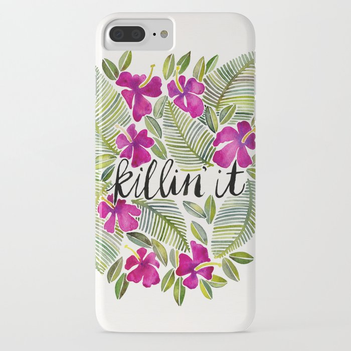 killin' it – tropical pink iphone case