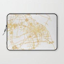 SHANGHAI CHINA CITY STREET MAP ART Laptop Sleeve