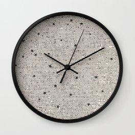 Sideral Heavens - Black Wall Clock