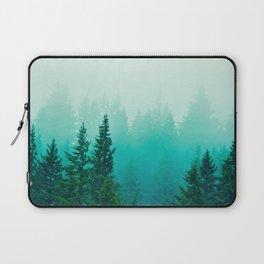 Fog Foggy Samish Forest Woods Mountain Northwest Washington Landscape Laptop Sleeve