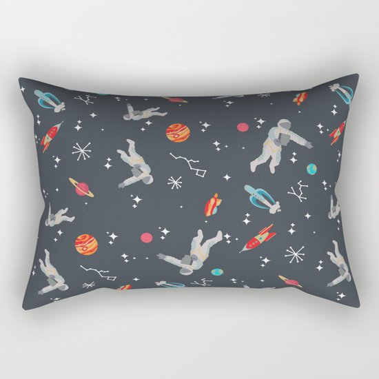 Spaceships, planets and Astronaut Rectangular Pillow
