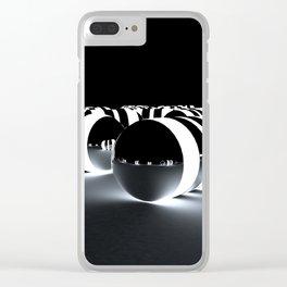 Tron Caps Clear iPhone Case