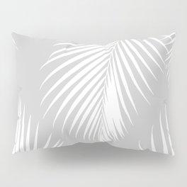 Gray Tropical Pattern Pillow Sham