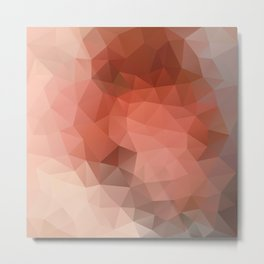 """Chocolate mousse"" geometric design Metal Print"