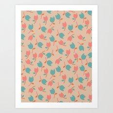Floral Bit Art Print