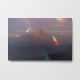 The Machapuchare Shine Metal Print
