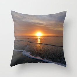 Sun-kissed Sea Throw Pillow