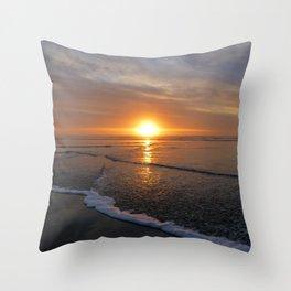 Sun-kissed Sea Throw Pillow