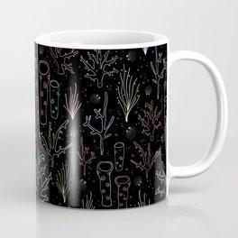 Coral Reef Neon On Black Coffee Mug
