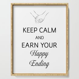 Earn Your Happy Ending [Black] Serving Tray