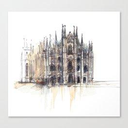 Duomo di Milano. Canvas Print