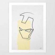 Oneline Ironman Art Print