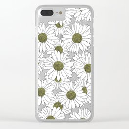 Daisy Blue Clear iPhone Case