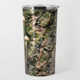 Mushroom on a Tree Trunk Travel Mug