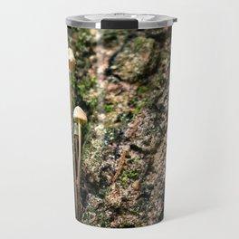 Mushroom on a Tree Trunk Travel Mug