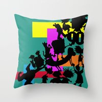 90s Throw Pillows featuring The 90s by Grace Billingslea