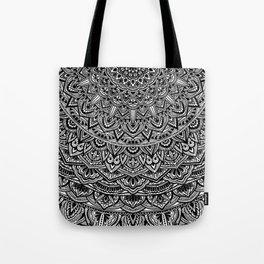 Zen Black and white Mandala Tote Bag