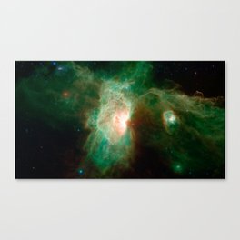 the horse becomes the phoenix | space #04 Canvas Print
