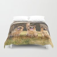 german Duvet Covers featuring German Shepherds by Trudi Simmonds