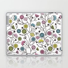 Black Border Florals Laptop & iPad Skin
